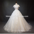 Vestido de novia vestido de novia de lujo de encaje de encaje con gran cola