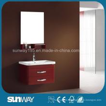 2014 глянцевый итальянский деревянный шкаф для ванной комнаты с сертификатом