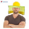 Hi Viz Mesh Helmet Sunshield Protector High Visibility Reflective Full Brim Hard Hat Sun Shade for Outdoor Works