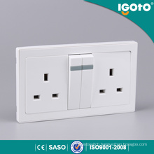 British Standard Electrical Double 13A 3-Pin Plug Socket Multi Plug Socket