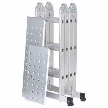 Finether 12.1ft Hochleistungs-Aluminium-Multi-Position, klappbare Verlängerungsleiter mit 2 Panels, 330lb Kapazität