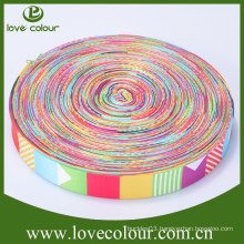 Customized sublimation printed ribbon with logo