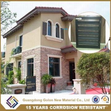 Guangdong polvo de aluminio revestido de ventana ciega