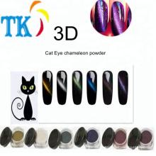 Atacado Moda 3D Cat Eye camaleão em pó para unha polonês por magia magnética
