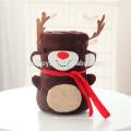 Couverture de Noël en peluche avec dessin animé mignon