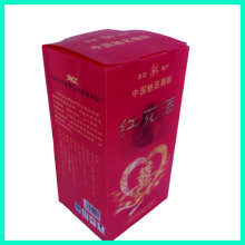 Wedding celebration custom eco-friendly products red printed high-grade single wine bottle gift box 3D impression wine box