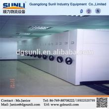 Gabinete de archivo de oficina de alta densidad Sistema de estantería móvil de almacenamiento mecánico