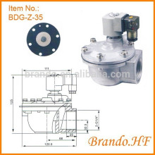 Threaded Port Solenoid Pulse Jet Valve Similar as CA35T