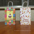 Happy Birthday Them Party Gift Bag Candy Packaging Kraft Paper Gift Bag With Handles