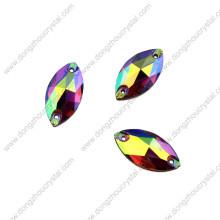 Venda quente Novo Design de Alta Qualidade Cristal Ab Sew em Strass