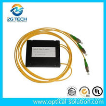 China Supplier ABS Box Packeged Sc/APC Connector 1X2 Fiber Optic Coupler