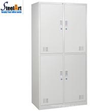 Venta caliente de metal cuatro puertas oficina almirah diseño hecho en luoyang