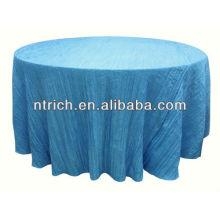 Abrigo de mesa para bodas banquetes, arruga/machacó el paño de tabla, cubierta de tabla de Tafetán