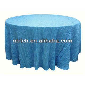 Envoltório de mesa para casamento/banquete, toalha de mesa da dobra/esmagado, tampa de tabela do tafetá