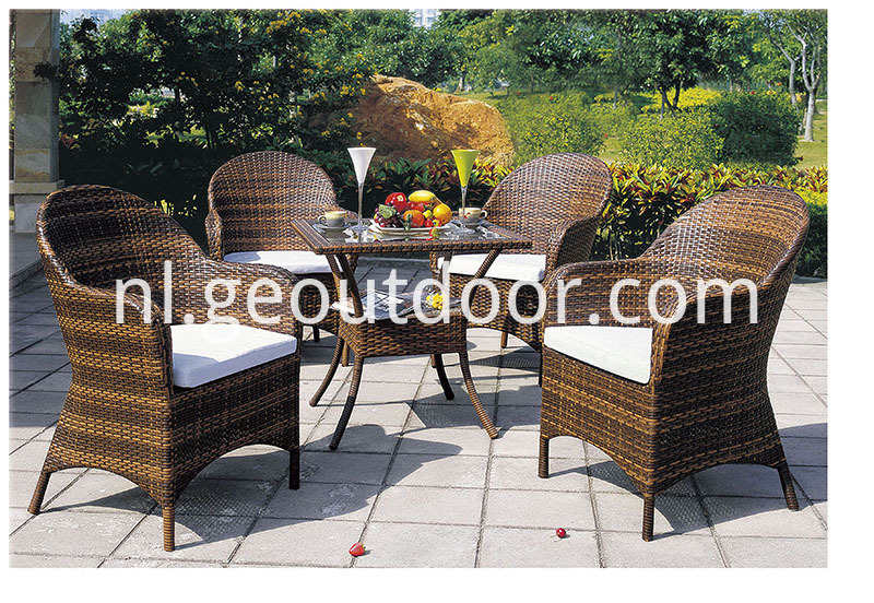 Square Aluminum Dining Set
