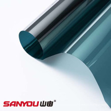 Película de protección y protección para ventanas exteriores, verde