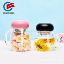 Belles tasses à thé en verre borosilicaté avec filtre