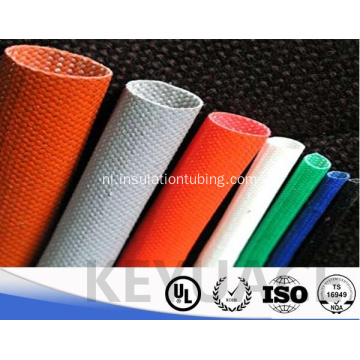 Silicone Rubber Resin Draadisolatie Glasvezelkoker