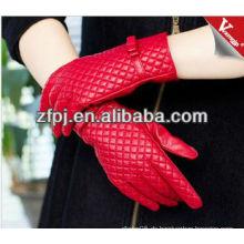 Leder Frauen Rot Warm Driving Handschuhe