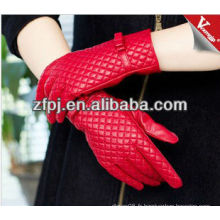Cuir Femmes Red Warm Driving Gloves