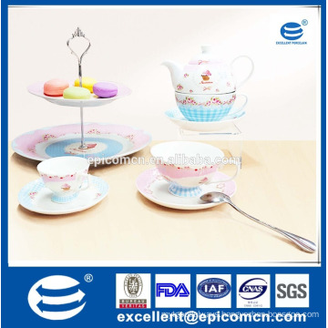 European 2016 Creative Trending Products Porcelain Tea Cups and Saucers