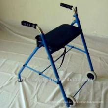 "Rollator com dobra e removível removível 8 ""rodas, assento acolchoado"