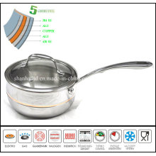 Apple Saucepan 5 Ply Composites Material Cookware