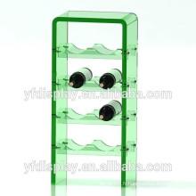 Présentoir à vin en acrylique vert