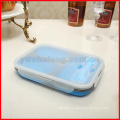 Silicone Collapsible Portable Lunch Box Bowl Bento Boxes Folding Food Storage Container Lunchbox Eco-Friendly