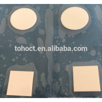 0.3mm thickness round square ceramic disc plate substrate