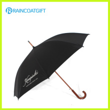Werbung gebogener Holzgriff Regenschirm