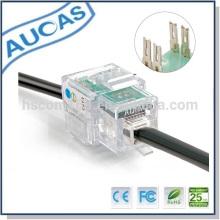 Fournisseur d'usine module vocal rj11 pour connexion au câble téléphonique / rj11 transparent femelle 4p4c jack modulaire bas prix