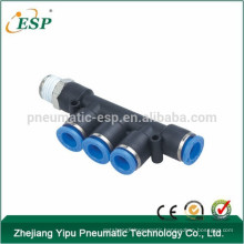 yuyao aisen pkb male triple branch fittings