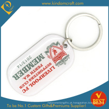 Atacado personalizado silkcreen impresso promoção metal keychain (| ln-0172)