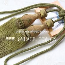 Franja china del pom del pom del Año Nuevo para la materia textil casera