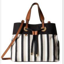 Stripes Jeans Drawstring Verschluss Damen Tasche Wzx21833