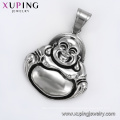 33637 xuping  Best selling fashion  black gun color Chinese laughing Buddha   pendant