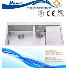 Lavador de banho pia mão construída tigela dupla com placa fabricante Foshan