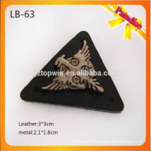 LB63 Remiendo de la etiqueta del metal remiendo de cuero de los pantalones vaqueros