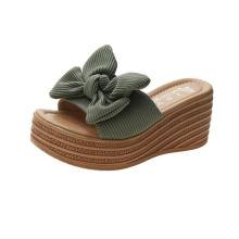 Platform sandals and slippers with slope heel and women's shoes