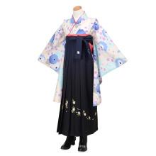 Light Blue Chrysanthemum Embroidery Junior Girl Dress Suit