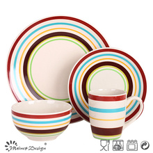 16PCS Handpainted Ceramic Dinner Set for 4 Persons