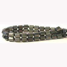 Hématite 6side Barrel Perles 6X8MM