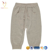Baby cashmere knitted pants with kangaroo pocket