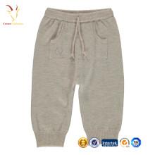 Ребенок кашемир трикотажные брюки с карманами