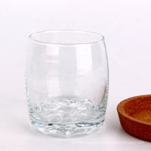 6oz glass round water tea beer cup with coaster