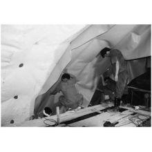 La membrane d'imperméabilisation de tunnel de PVC blanc / gris de 1.2-2.0mm / feuille de tunnel de PVC