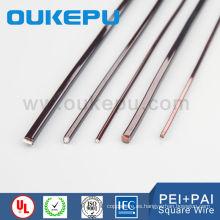 precio bajo poliester-imida 6 calibre alambre magneto cuadrado, plano imán wire stripping, calibrador de alambre plano