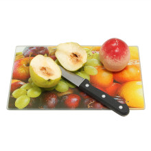 Rectangle Color Tempered Glass Chopping Board