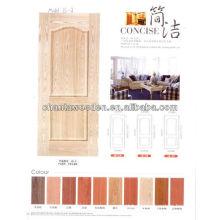 Hdf chapa piel de puerta de madera de roble, ceniza, teca